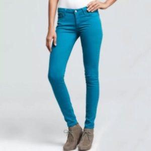 Paige Peg Skinny Turquoise Jeans/Pants
